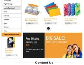 #18 for Mockup landing page for school supplies by FALL3N0005000