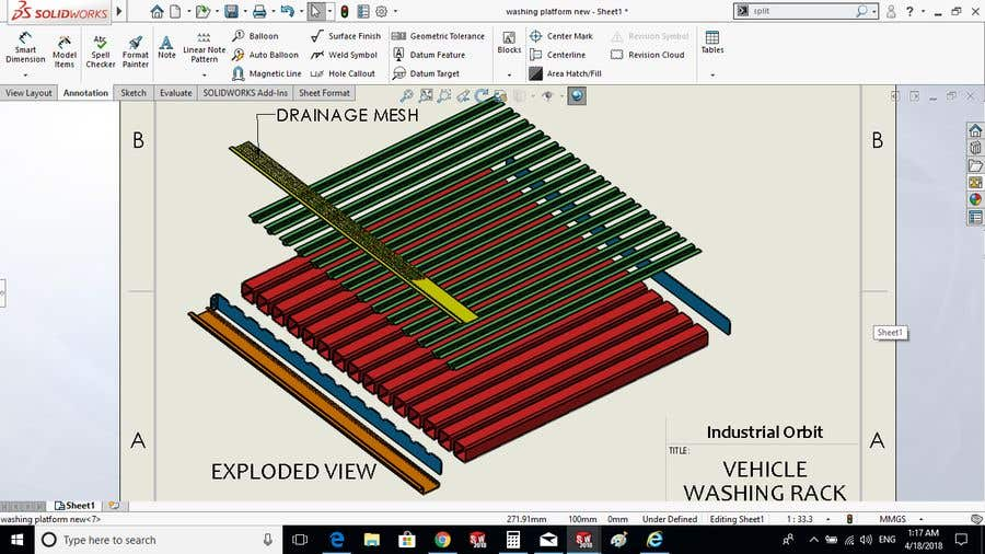 Entry #20 by inor1 for Design of industrial wash racks