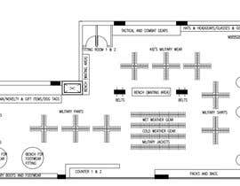 #6 for To design interior furniture layout for a military clothes and accessories store by rbn1331