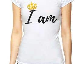 """#77 for I need a logo for a T-shirt that says """"I Am"""". I want a tilted crown on the """"I"""". I need a king and queen crown. by angel0728"""