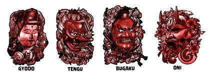 Image of                             Illustrate some Japanese masks