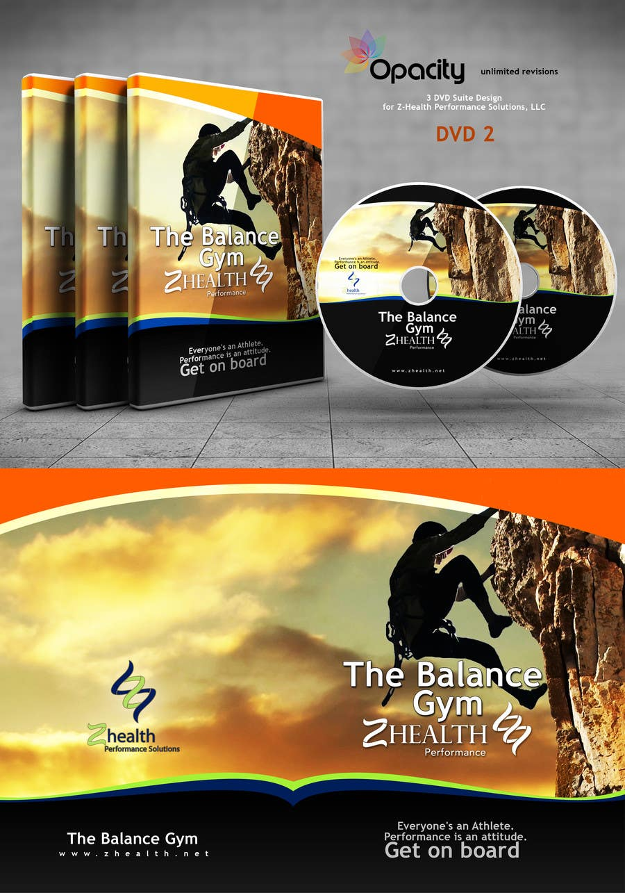 #6 for 3 DVD Suite Design for Z-Health Performance Solutions, LLC by Opacity