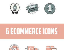 #17 for Design a set of 6 simple icons for my eCommerce by leandeganos