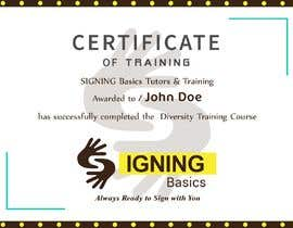 #22 for Certificate of Training by mohmedelasar