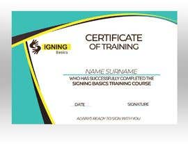 #23 for Certificate of Training by khaledalmanse