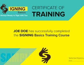 #57 for Certificate of Training by ziauddin1973