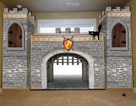 #6 for Illustrate castle-theme cabinet/bed in kids room by d3stin