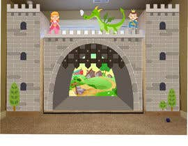 #11 for Illustrate castle-theme cabinet/bed in kids room by richardwct