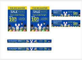 #69 for Set of Banners Needed to Promote Huge Easter Sale by owlionz786