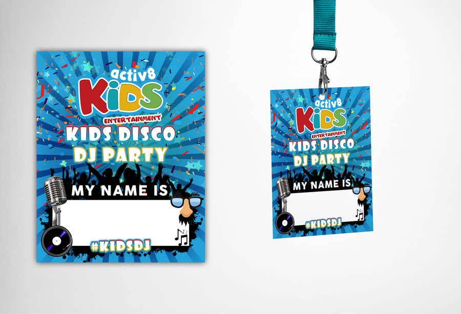 Entry 6 By Claudiu152 For Design A Name Badge To Go Onto Lanyard