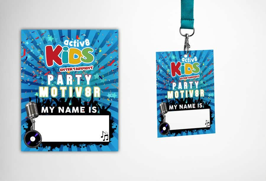entry 7 by claudiu152 for design a name badge to go onto lanyard