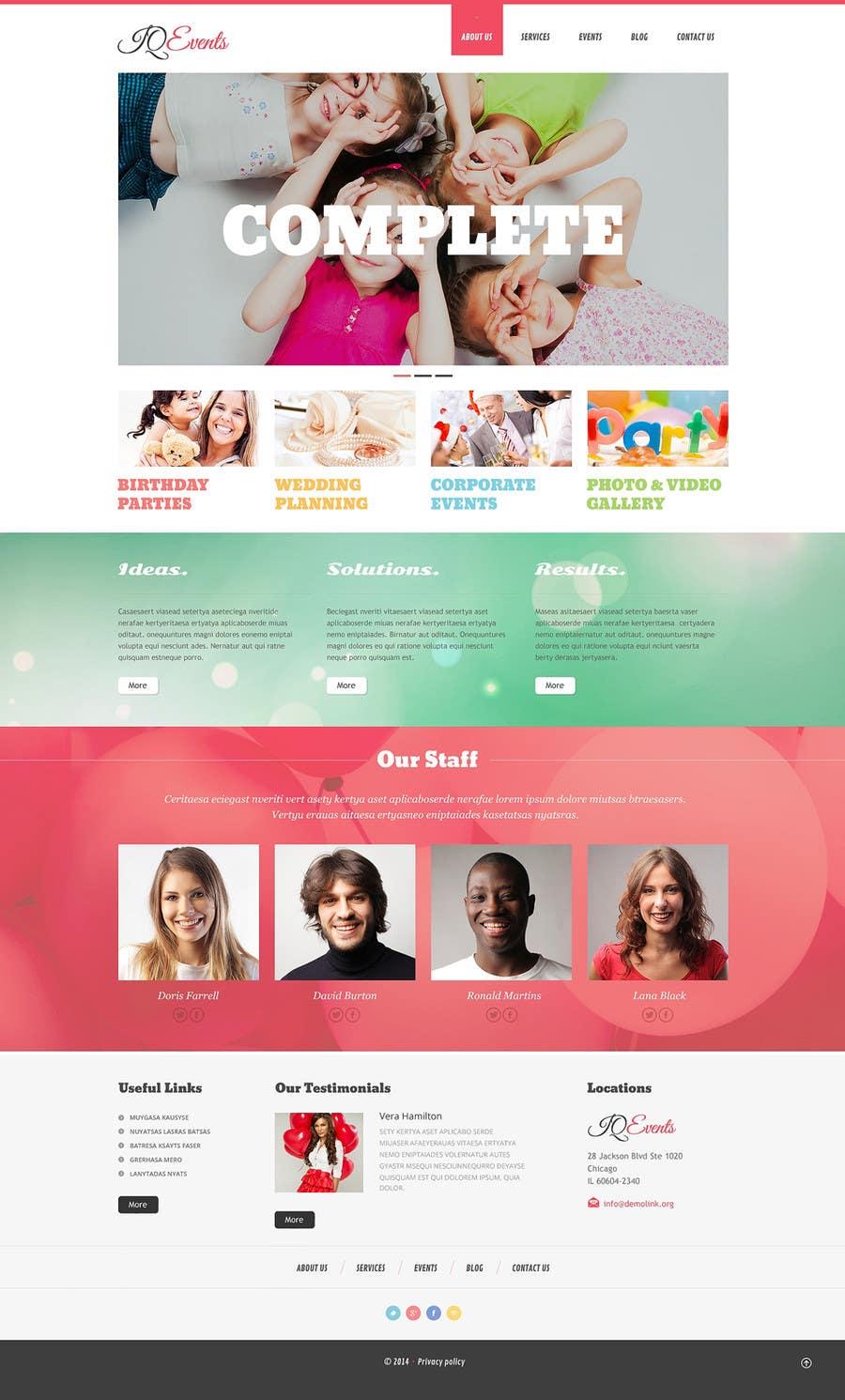 design a website mockup for event planner blog freelancer. Black Bedroom Furniture Sets. Home Design Ideas
