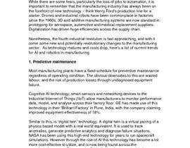 #8 for Write some Articles on Artificial Intelligence and Robotics and how they are used in the Manufacturing Industry by kimkrgreen