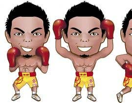 "#39 for Design an Asian Boxer Cartoon Character with 4 different punching actions/posts all in full body. (*Suggest to best use ""Srisaket Sor Rungvisai"" as the referral for the character) by EVINR"