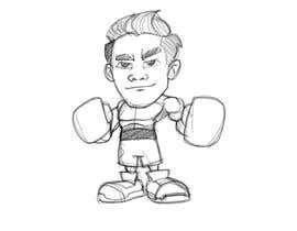 "#59 for Design an Asian Boxer Cartoon Character with 4 different punching actions/posts all in full body. (*Suggest to best use ""Srisaket Sor Rungvisai"" as the referral for the character) by MyPrints"