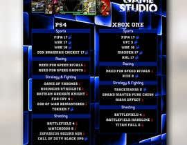 #44 , Design a menu card for Game studio 来自 jasonprince345