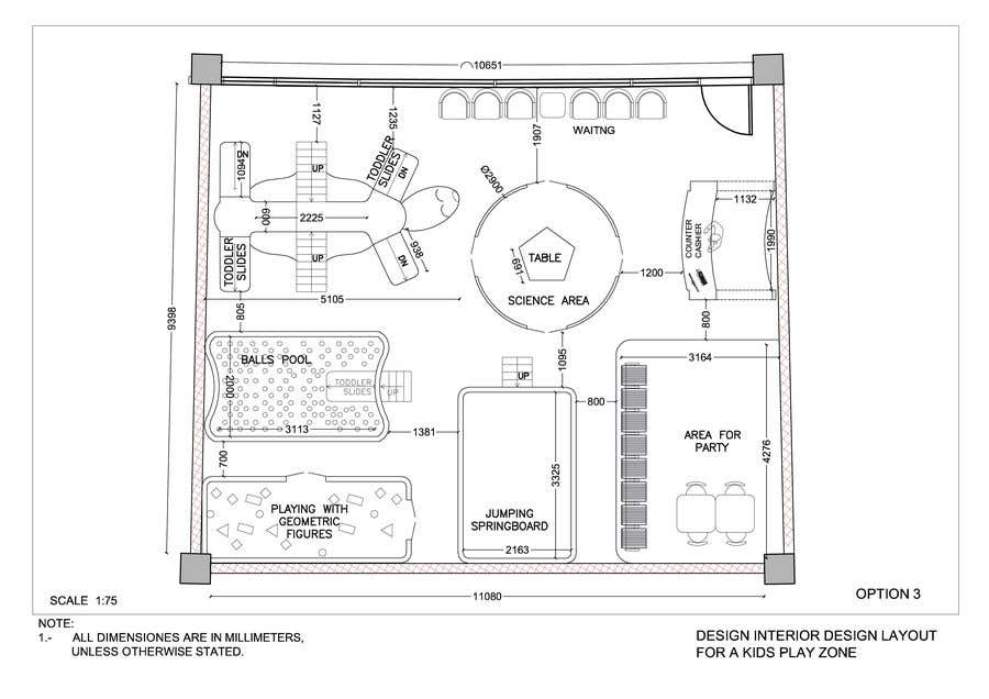 Contest Entry 9 For To Design Interior Layout A Kids Play Zone