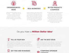 #23 para Blockchain and Cryptocurrency IDEA Platform Website Landing Page por tamamanoj