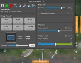 #26 untuk Design a mockup for a industrial camera control app oleh wayannst