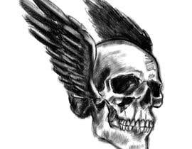 #57 for Illustrate a Skull with a Detail by fabianmarchal