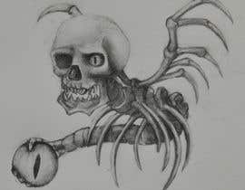 #62 for Illustrate a Skull with a Detail by RogueBulldog