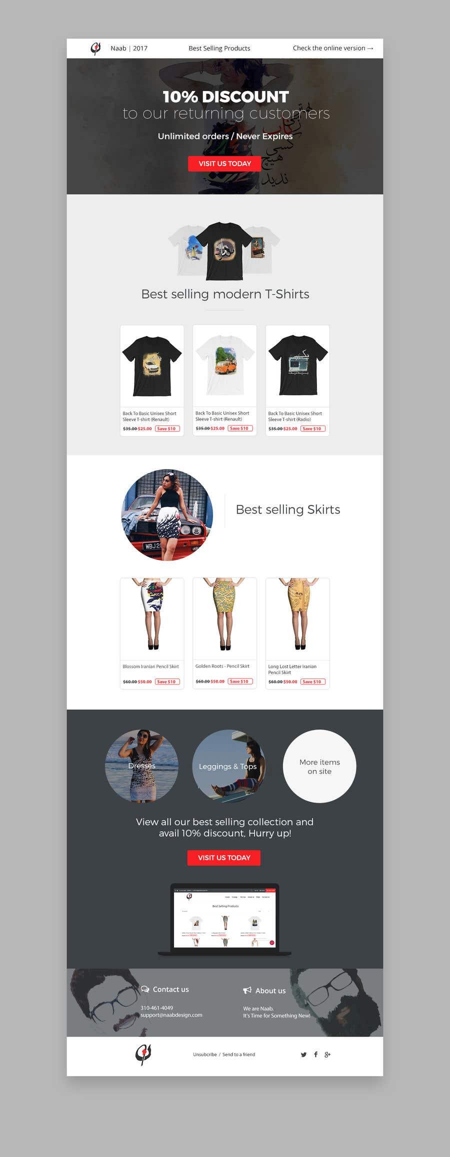Entry #13 by znxked for Modern Email Marketing Template Design ...