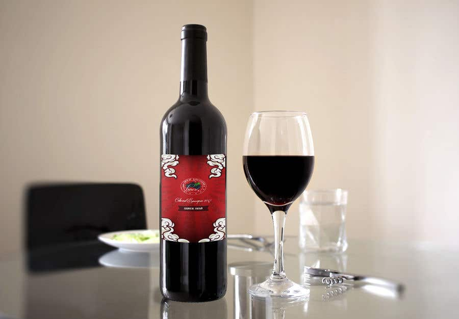 Contest Entry #                                        9                                      for                                         Design our wine label using our logo