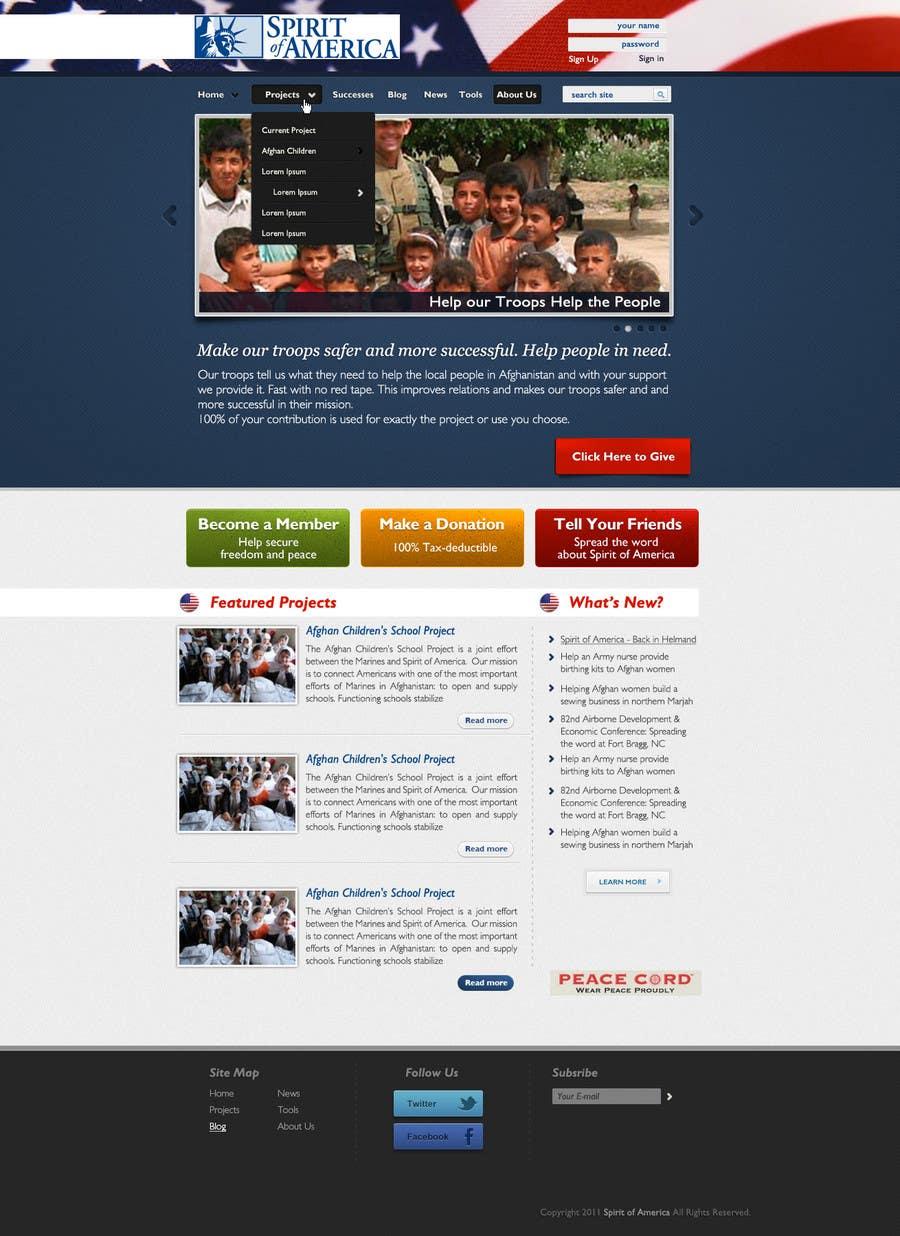 Конкурсная заявка №68 для Website Design for Spirit of America
