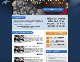 #10 para Website Design for Spirit of America de firethreedesigns