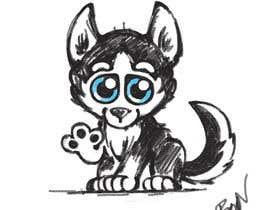 #28 dla Artist create original Siberian Husky Puppy Cartoon Character for Large sticker pack przez Fyon