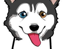 #19 dla Artist create original Siberian Husky Puppy Cartoon Character for Large sticker pack przez soulkarazo1234