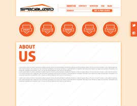 #13 untuk Wordpress Theme Design for Specialized Roofing & Contracting Inc. oleh katemacovska