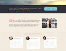 #15 untuk Wordpress Theme Design for Specialized Roofing & Contracting Inc. oleh andrewnickell