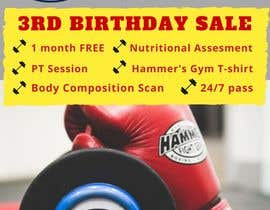 #24 for Hammer's Gym 3rd Birthday Sale by biapearce