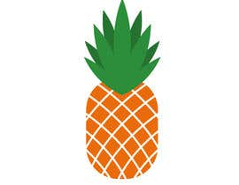 #8 for I need you to make a simple design of a pineapple. It doesnt really need to much detail. Just have a yellow pineapple with a green top (leaves). by hafsashahw