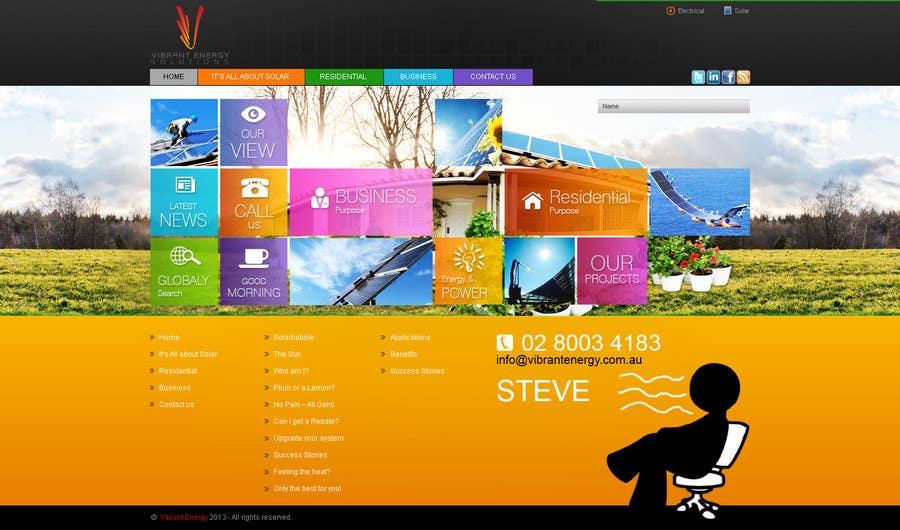 Конкурсная заявка №47 для Website Design for Vibrant Energy Solutions