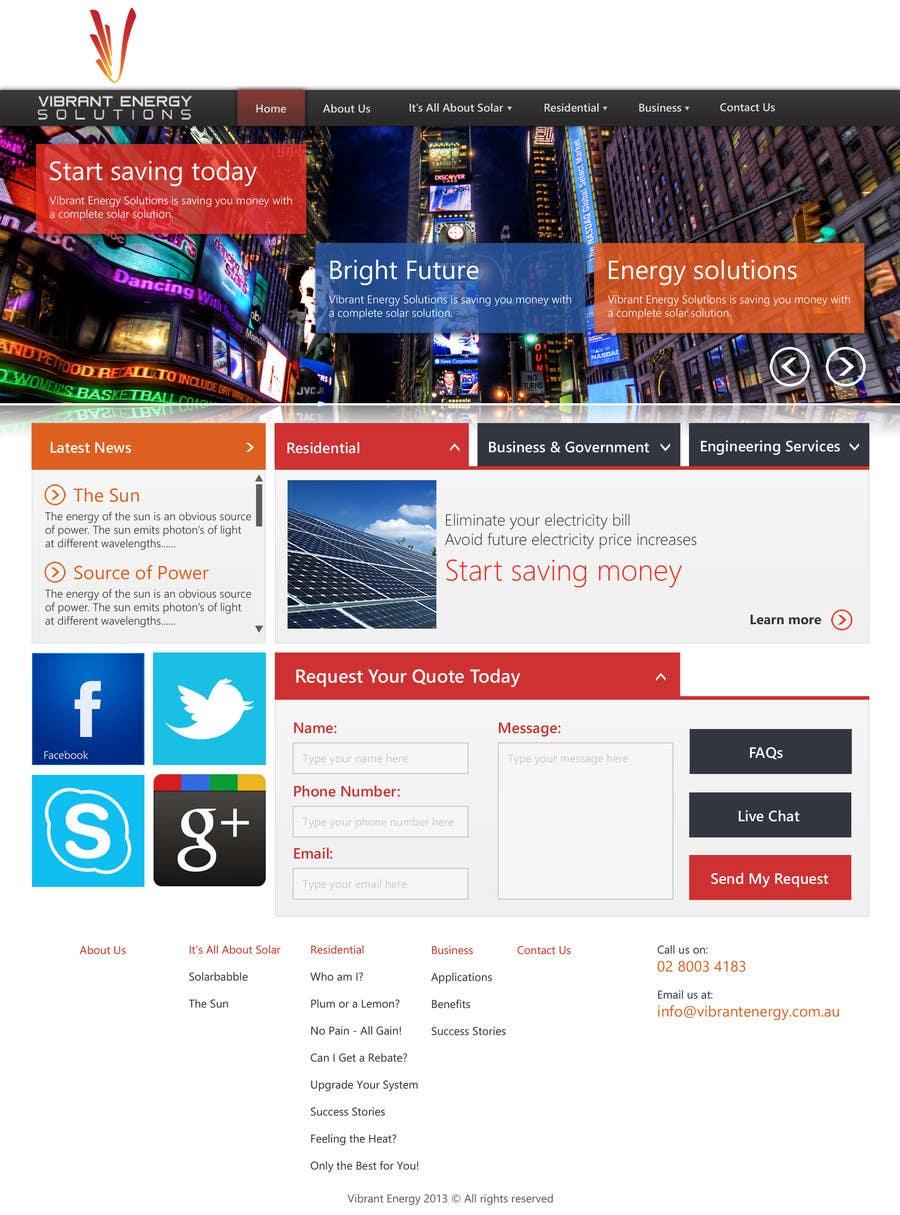 Konkurrenceindlæg #92 for Website Design for Vibrant Energy Solutions
