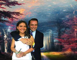 #57 for Photoshop couple onto 3 funny backgrounds by AbdurRazzak2