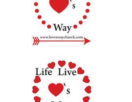 #11 for vector pdf file  for a church - needs to say: Live Life ❤️'s Way   At the bottom edge of the decal and smaller it needs to say: www.loveswaychurch.com Can be circle or oval / sideways oval might look good? Not sure of colors ?Just heart needs to be red. af jakirhossain9246