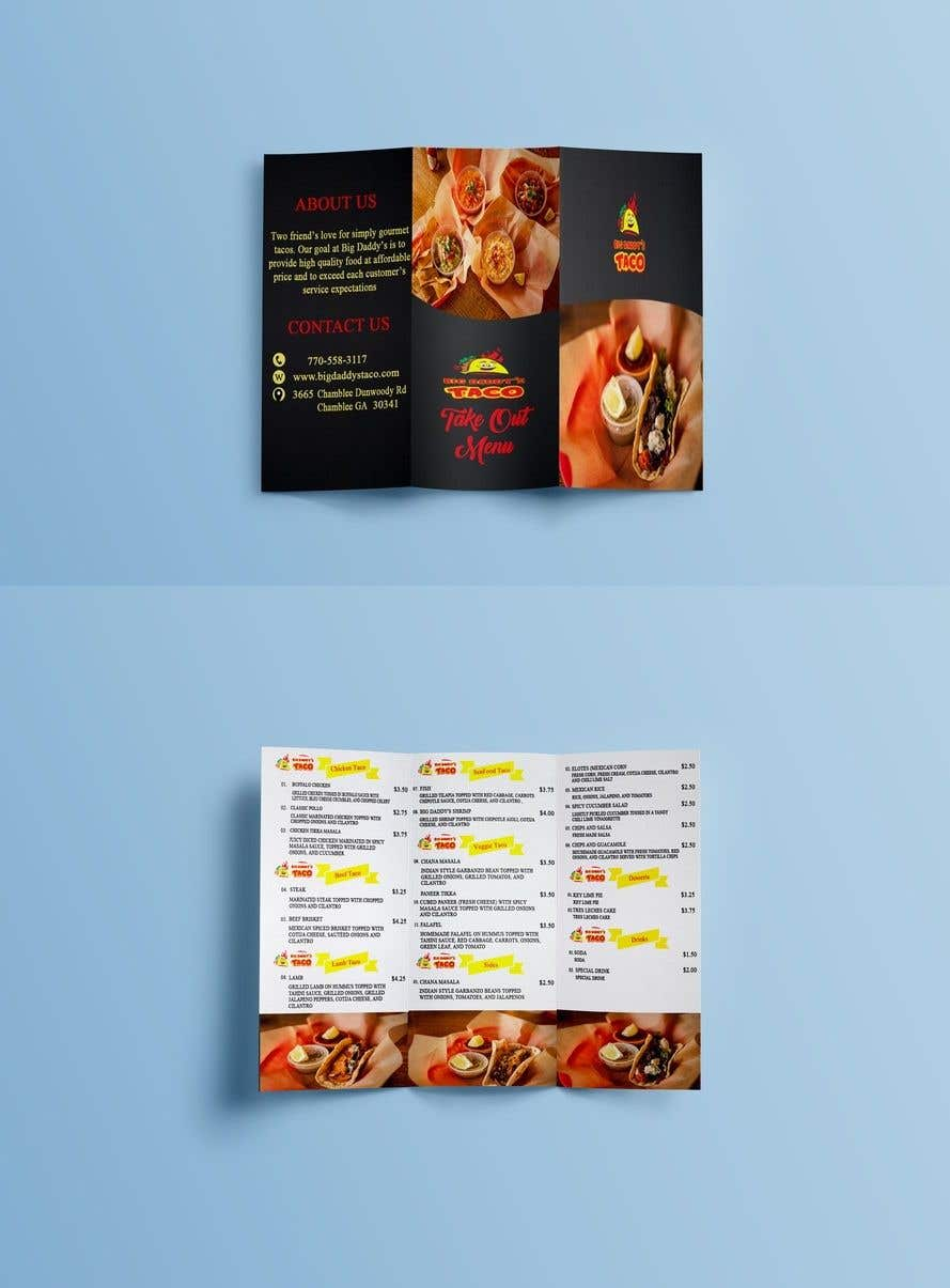 entry 6 by astrodude for need a takeout menu design for restaurant