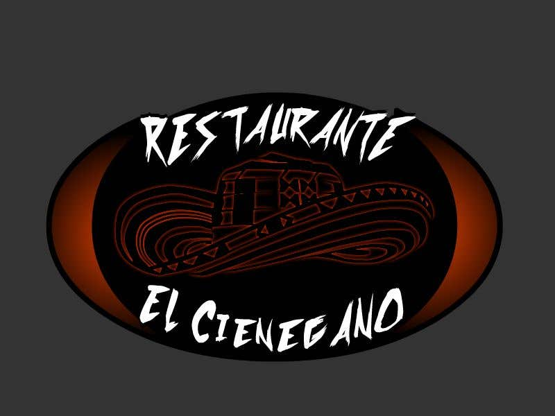 """Konkurrenceindlæg #19 for Hi guys! I need your help to create the logo of my new restaurant. It is called """"RESTAURANTE EL CIENEGANO"""". I attach proposed colors and concept. It is important that the logo bears a hat typical of the Colombian Caribbean coast since that is the theme"""