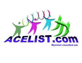#49 untuk company logo icon with acelist.com and Myanmar classifieds ads text oleh roberteditor