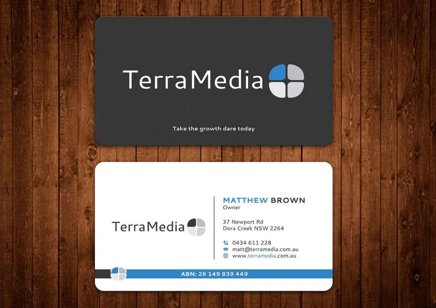 Entry #217 by aminur33 for Double-sided business card for web ...
