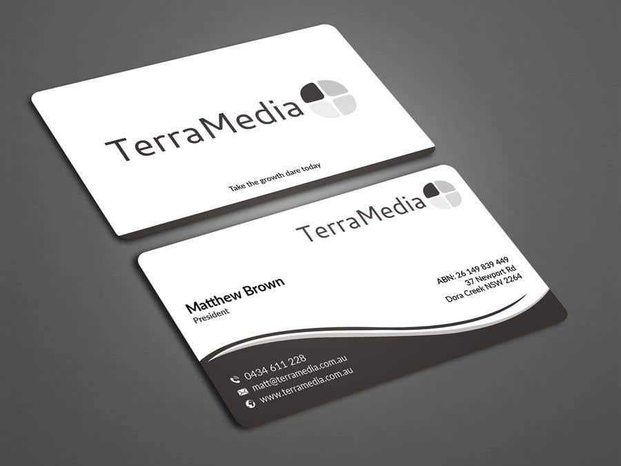 Entry #42 by tmshovon for Double-sided business card for web ...