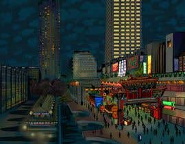 #8 cho Change a London photo to comics style illustration (and add a Hong Kong street market) bởi juliasha777