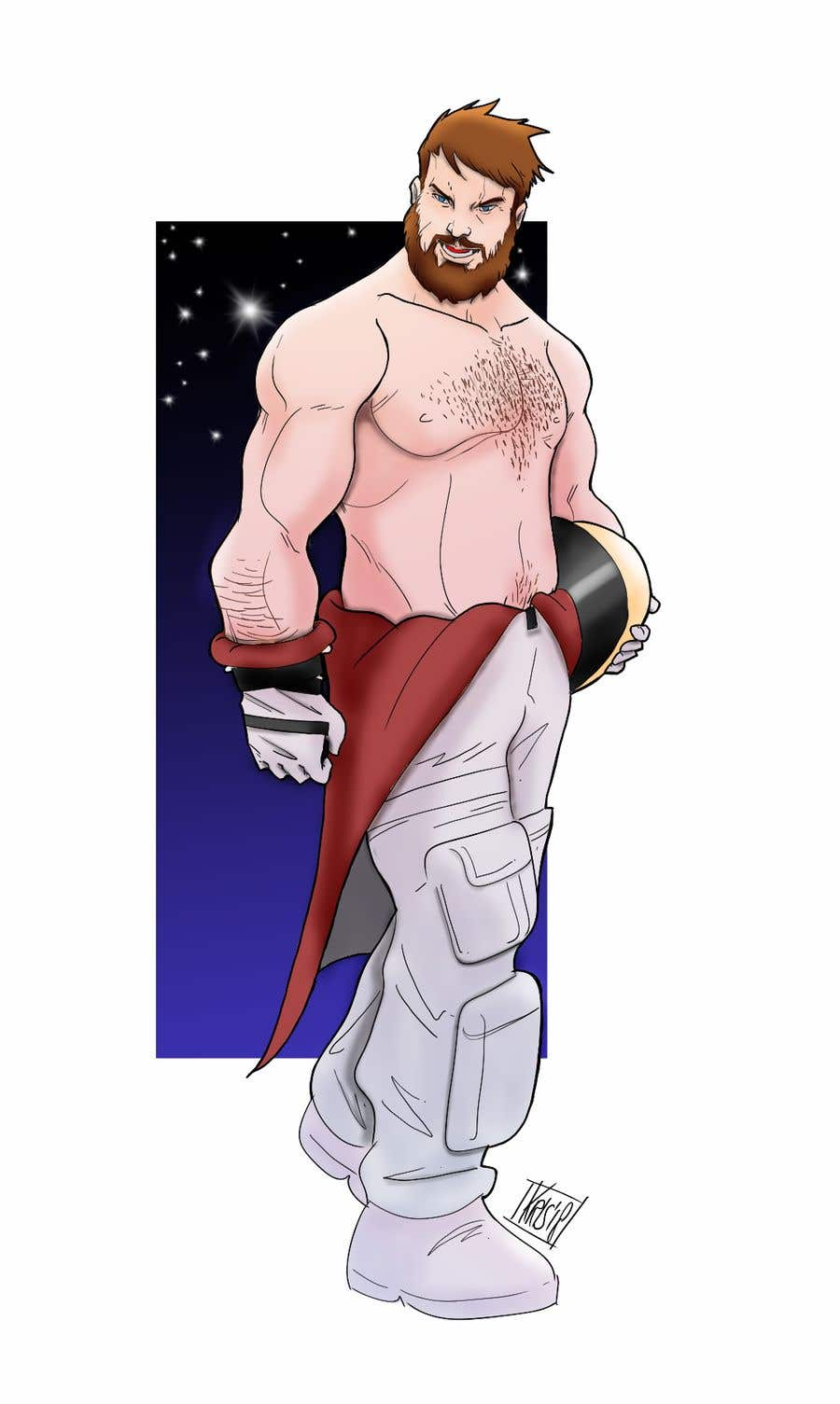 Contest Entry #30 for Space Bear (big muscle hairy man)