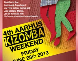 #21 for Graphic Design for Kizomba-aarhus.dk af PoobahHead10