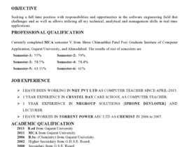 nº 12 pour Make my resume awesome to get me a job par bharatpatel1985