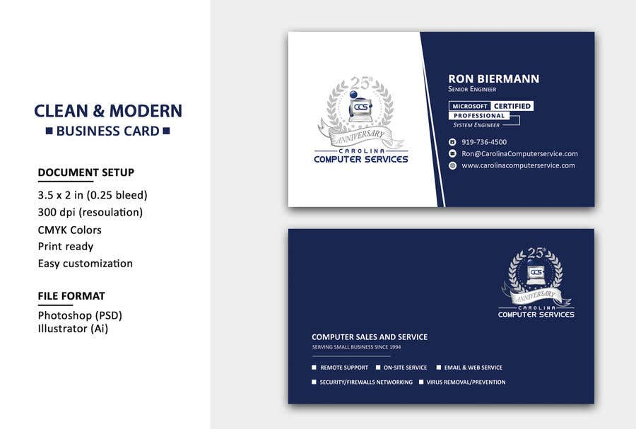 Entry 132 By Azaz4911 For Business Card Design