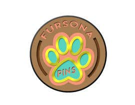 "#12 untuk Please design a logo for an enamel pin company named ""Fursona Pins."" It should be themed like an enamel pin, in the shape of a paw. oleh b4drb3ats"
